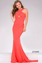 Jovani Cross Over Halter Neck Prom Dress 43029
