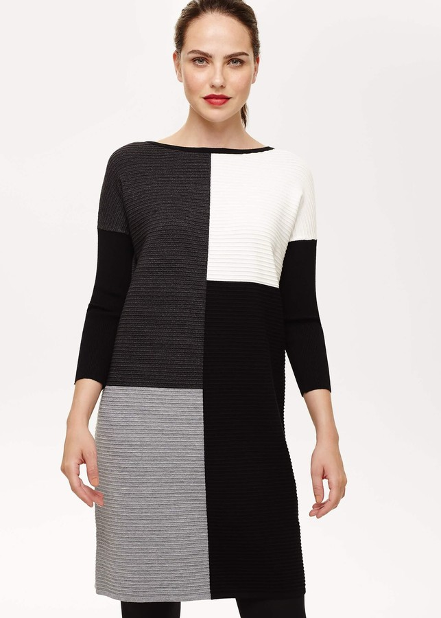 Phase Eight Cher Colour Block Knitted Dress