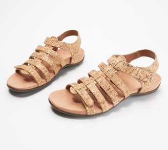 Vionic Leather Gladiator Sandals - Harissa