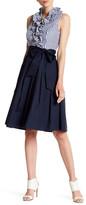 Eliza J Ruffle Twofer Dress