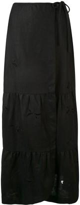 Sir. Alena wrap maxi skirt
