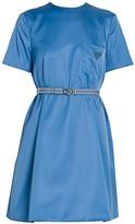 Prada Patch Pocket Belted Swing Dress