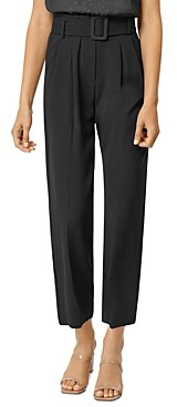 Habitual Payton Belted High-Waist Cropped Pants