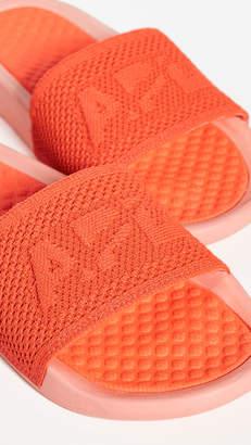 APL Athletic Propulsion Labs Athletic Propulsion Labs Big Logo TechLoom Slide Sandals