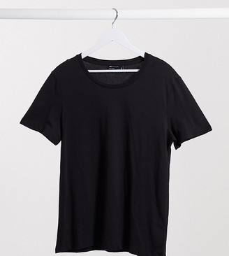 ASOS DESIGN Tall t-shirt with scoop neck in black