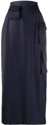 Natasha Zinko Straight Fit Utility Pocket Skirt