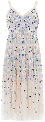 Needle & Thread Wildflower sequin-embellished tulle dress