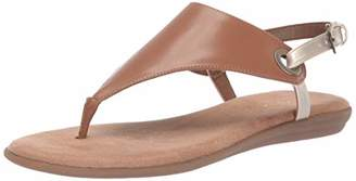 Aerosoles Women's in Conchlusion Sandal - Leather Toe Strap Summer Flat Shoe with Memory Foam Footbed (5M - )