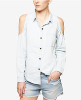 Sanctuary Tuulum Cotton Cold-Shoulder Shirt