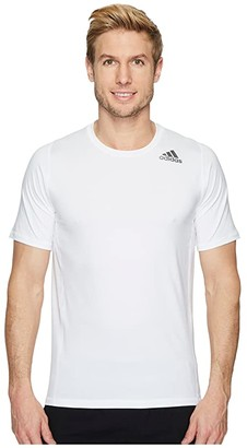 adidas Alphaskin Sport Fitted Short Sleeve Tee (White) Men's T Shirt