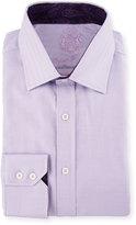 English Laundry Herringbone Long-Sleeve Dress Shirt, Purple
