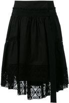 Alberta Ferretti lace trim asymmetric skirt - women - Cotton - 42