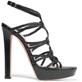 Alexander McQueen Braided Leather Platform Sandals