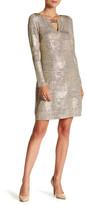 Vince Camuto Metallic Knit Shift Dress