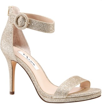 Nina Adjustable Platform Glitter Sandals - Rudia