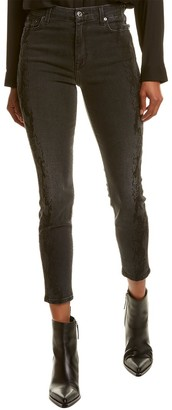 Seven For All Mankind 7 For All Mankind Aubrey Coal Snake Skinny Leg Jean
