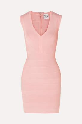 Herve Leger Bandage Mini Dress - Blush