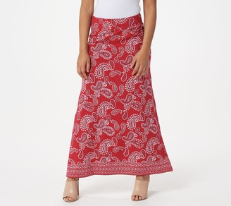Belle By Kim Gravel Belle by Kim Gravel TripleLuxe Knit Paisley Maxi Skirt