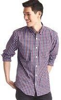Gap True wash classic plaid standard fit shirt