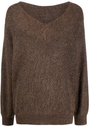 Brunello Cucinelli oversized V-neck jumper