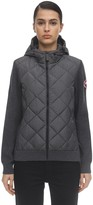 Canada Goose Hybridge Wool Knit & Quilted Down Jacket
