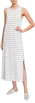 Joan Vass Striped Maxi Dress