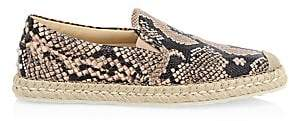 Tod's Women's Slip-On Python & Leather Espadrille Sneakers
