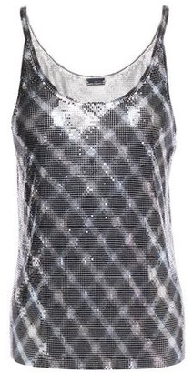 Paco Rabanne Checked Chainmail Top
