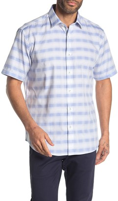 Bugatchi Classic Fit Short Sleeve Button-Down Shirt
