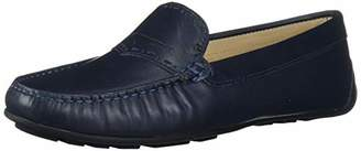 Driver Club USA Women's Genuine Leather Unique Penny Detail Driving Loafer
