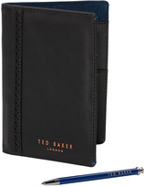 Ted Baker Mens Travel Wallet and Pen Set
