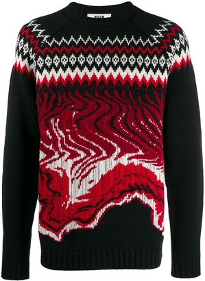 MSGM Fair Isle Wave Jumper