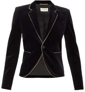 Saint Laurent Single-breasted Velvet Blazer - Black