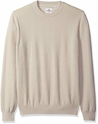 Ben Sherman Men's Chevron Texture Crew Neck