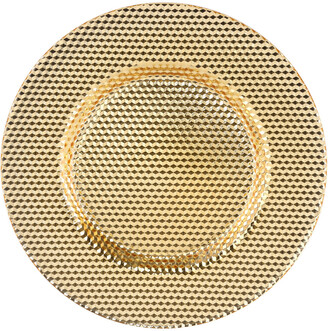 Ten Strawberry Street Set Of 6 Gold Chargers