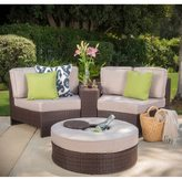Christopher Knight Home Madras Ibiza Outdoor Wicker 4-piece Sectional Set with Ottoman