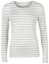Full Circle Womens Stripe Crew Jumper Sweater Pullover Long Sleeve Lightweight
