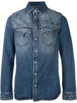 Valentino star stitching western shirt