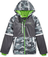 London Fog Hooded Camo-Print Colorblocked Windbreaker Jacket, Big Boys (8-20)