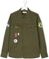 Stella McCartney badge embroidered shirt