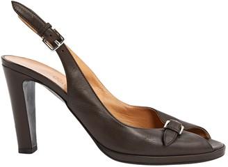 Hermã ̈S HermAs Brown Leather Heels