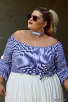 Forever 21 Plus Size Stripe Choker Top