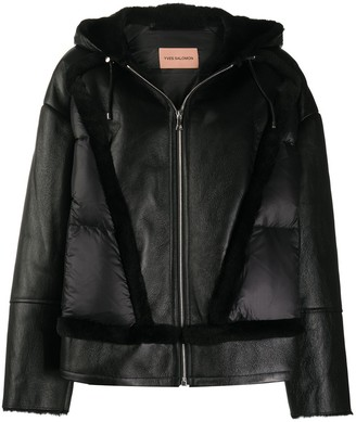 Yves Salomon Hooded Sheepskin Puffer Jacket
