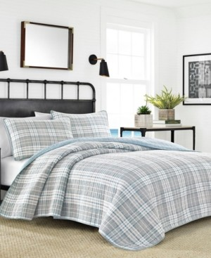 Nautica Millbrook Plaid King Quilt Set Bedding