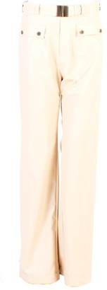 Relax Baby Be Cool Straight Cut Vinyl Trousers With Front Pockets Blush