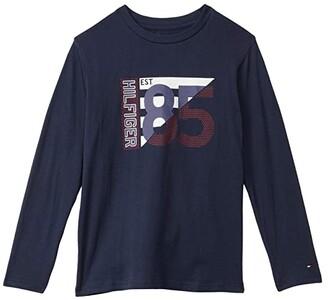 Tommy Hilfiger The Pledge Long Sleeve T-Shirt (Bid Kids) (Navy Blazer) Boy's Clothing