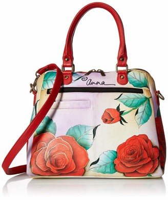 Anuschka Women's Anna Hand Painted Leather Organizer Satchel Bag