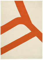 Flat Orange 6x8 Rug