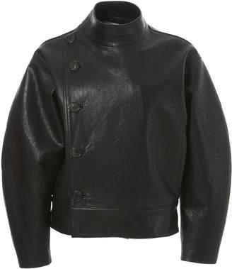 LVIR Unbalance Faux-Leather Bomber Jacket