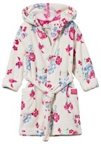 Joules Cream Floral Fleece Dressing Gown